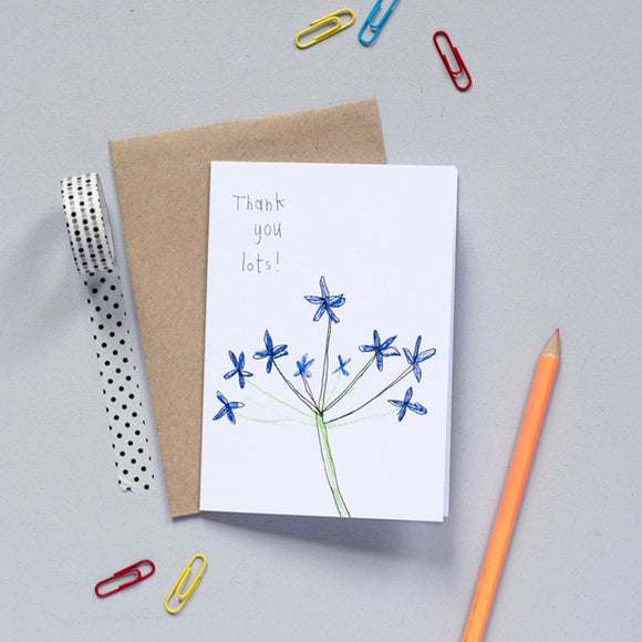 'Thank You Lots' Greetings Card