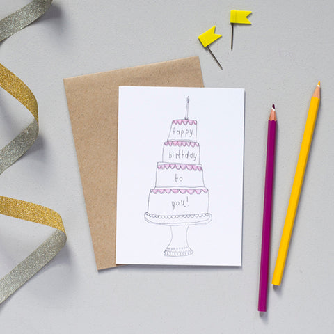 'Happy Birthday To You' Greetings Card