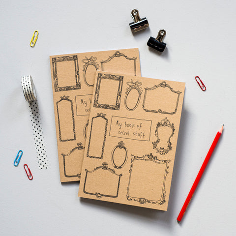 'My Book of Secret Stuff' Mirrors Recycled Notebook