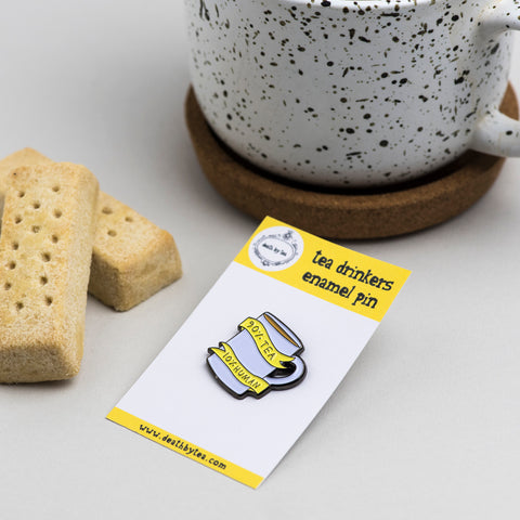'Tea Drinkers' Soft Enamel Pin Badge