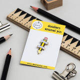 'Pencil Power' Soft Enamel Pin Badge
