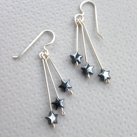 Star drop earrings.