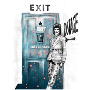 """Bowie: Exit"" Greeting Card"