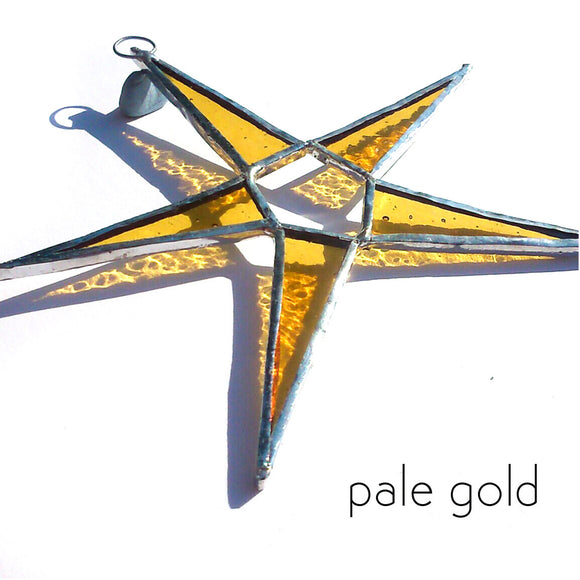 Pale Gold Stained Glass Star Suncatcher