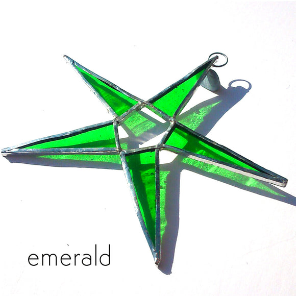 Emerald Green Stained Glass Suncatcher