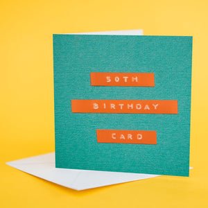"Label Card ""50th Birthday Card"""