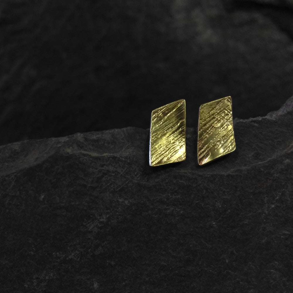 Brass Line hammer texture rectangle studs