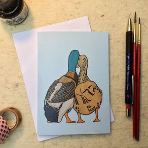 'Ducks in Love' Greetings Card