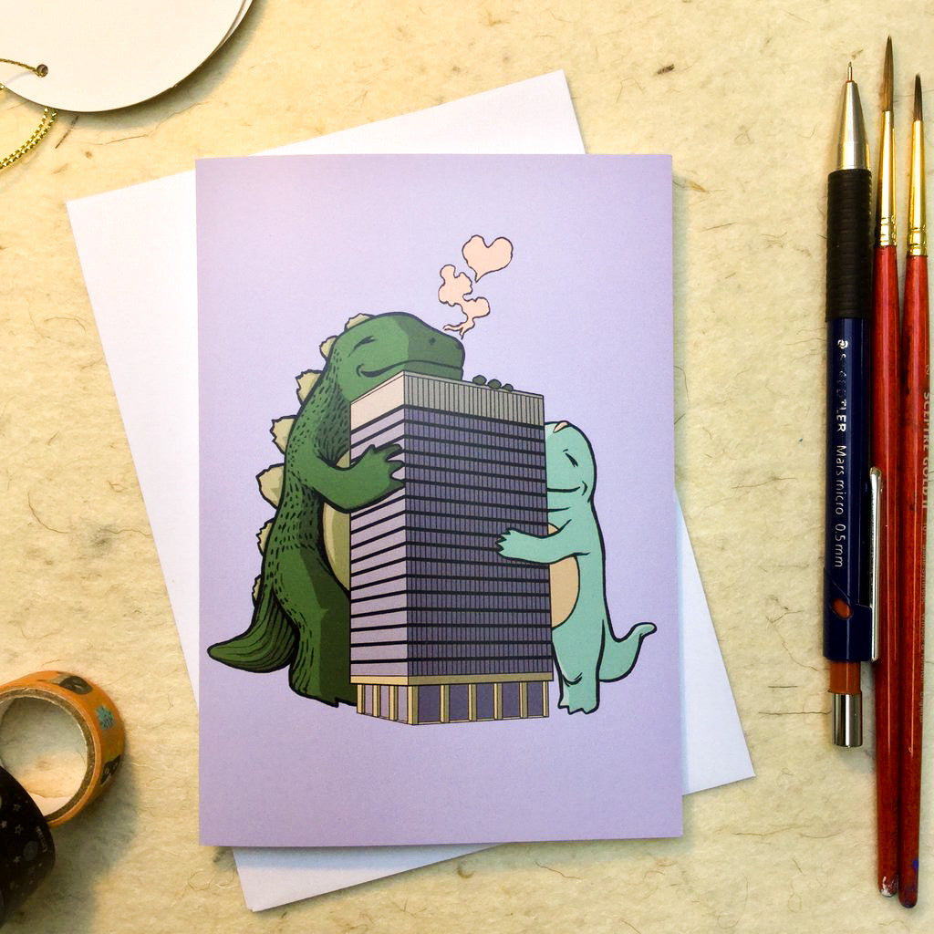 'Arts Tower' Greeting Card