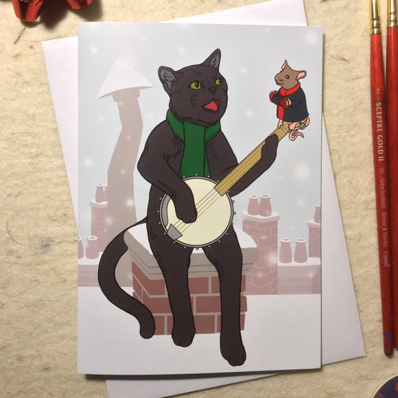 'Merry Catmas' Greeting Card