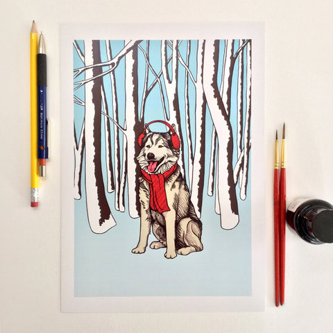 Winter Wolf (A4 digital print)