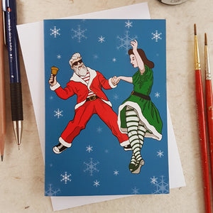 'Jingle Bells Rock' Greetings Card