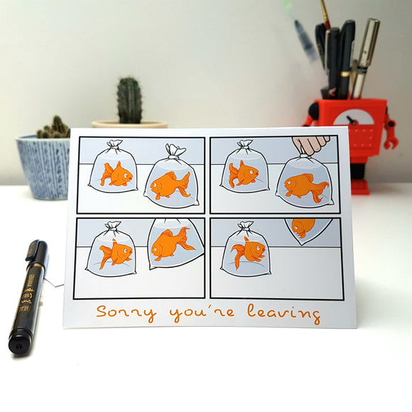 'Sorry You're Leaving' card