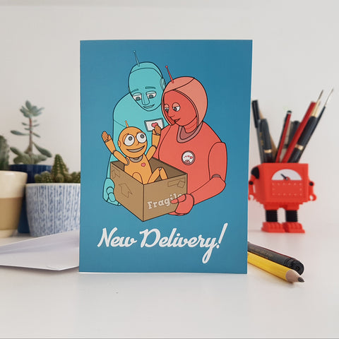 'New Delivery' greetings card