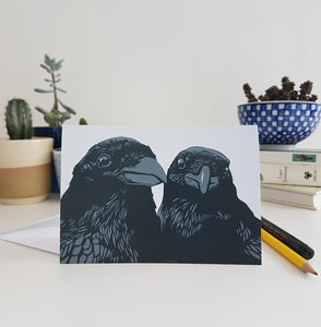 'Crows' greeting card