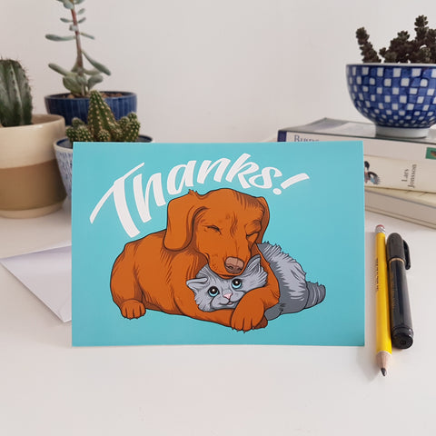 'Thanks' greetings card