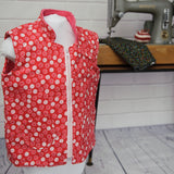 Age 4 Kids Fleece-lined Gilet - Red Dots