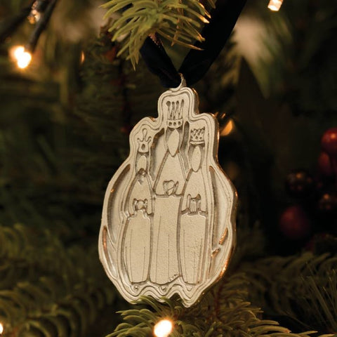Three Wise Men Pewter Christmas Decoration