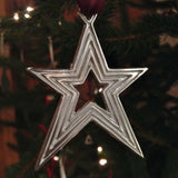 Pewter Star Christmas Decoration