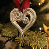 Pewter Heart Christmas Decoration