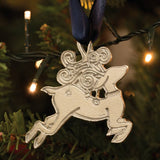 Reindeer Pewter Christmas Decoration