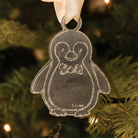 Pewter Penguin Christmas Decoration