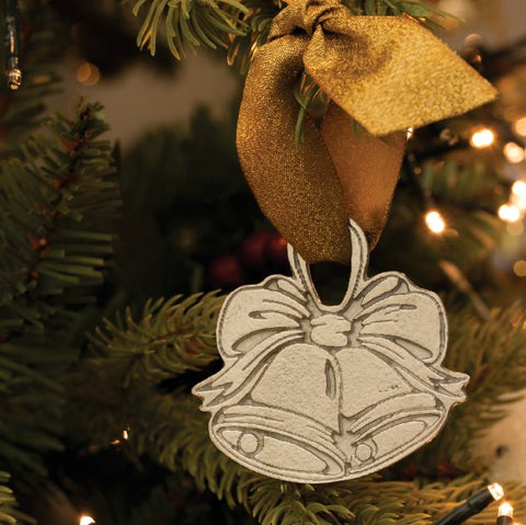 Pewter Bells Christmas Decoration