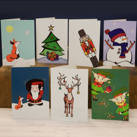 Glittery Christmas Cards 5 for £10