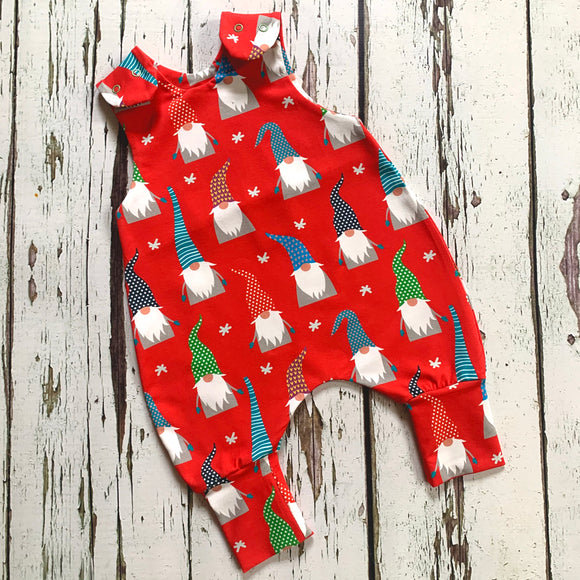 Red Gnome Christmas Romper