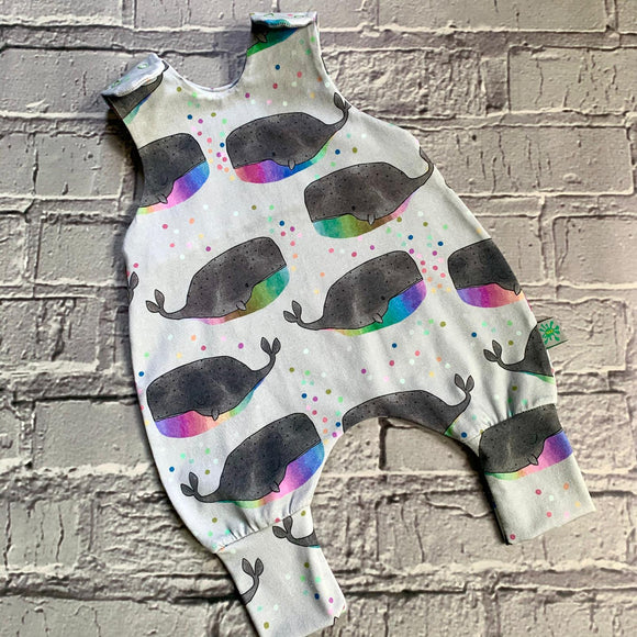 NEW! Rainbow Whale Romper