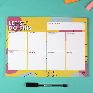 A4 Let's Do This Weekly Notepad Planner