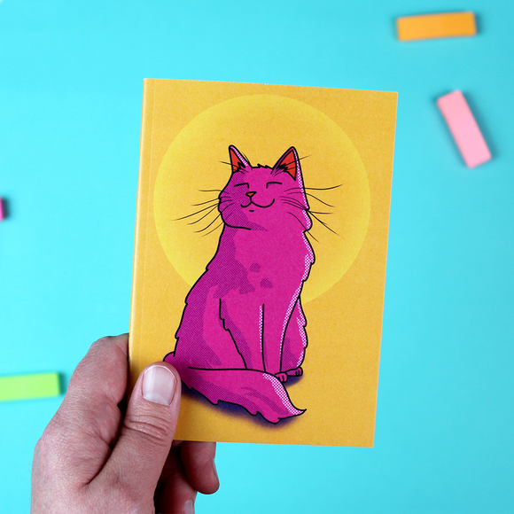 Pink Cat A6 Notebook - Sunset Cat