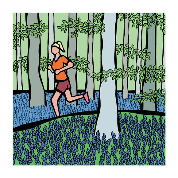 Bluebell Forest - Greeting Card