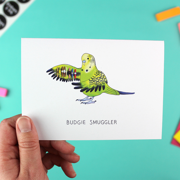 Budgie Smuggler Greetings Card