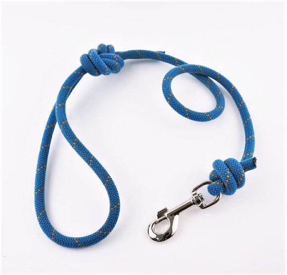 Climbing Rope Dog Lead - Blue