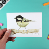 Coal Tit Greetings Card