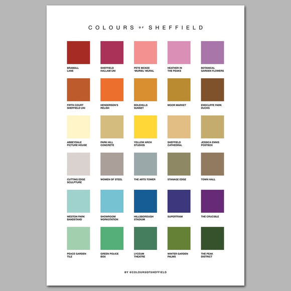 Colours of Sheffield Print