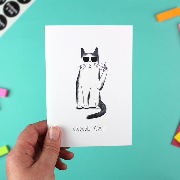 Cool Cat Greetings Card