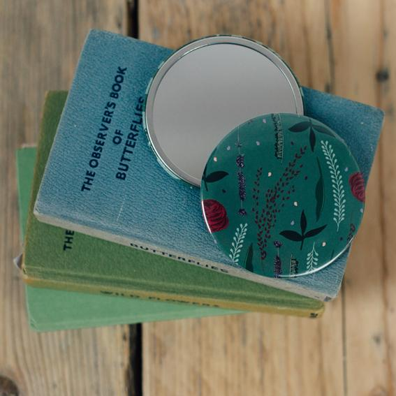 Forest Green Pocket Mirror