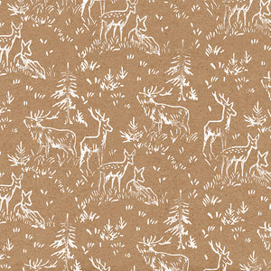 "Deer Herd Christmas Wrapping Paper // 70 cm x 50 cm / 27.5"" x 19.5"""