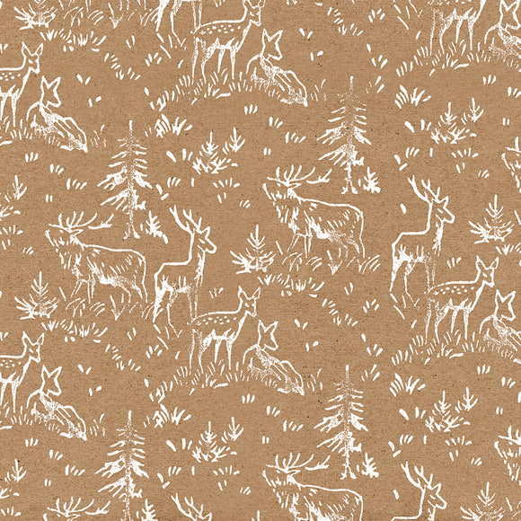 Deer Herd Christmas Wrapping Paper // 70 cm x 50 cm / 27.5