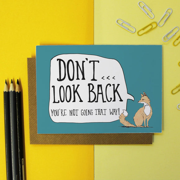 Don't Look Back Encouragement Card