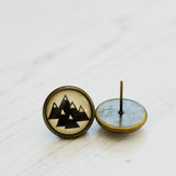 Cabochon Earring Mountains