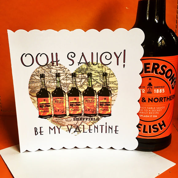 Ooh Saucy Hendos Valentines Greeting Card