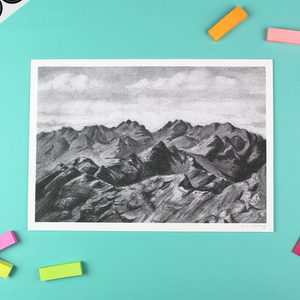 Skye Cuillin - The Ridge, Unframed Giclee Print, A4