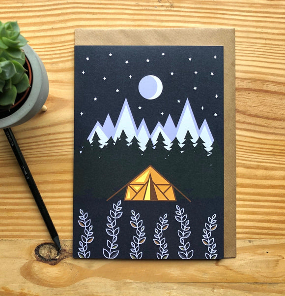 Under the Stars Greetings Card A5
