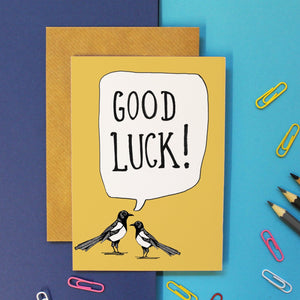 Good Luck Magpie Card
