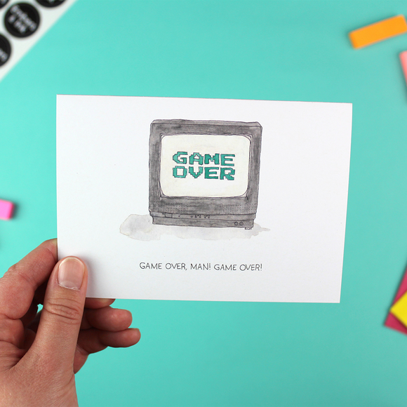 Game Over! Greetings Card
