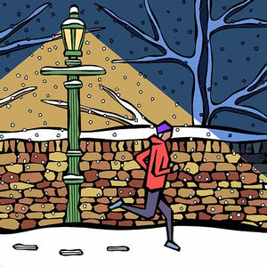Winter Street - Greeting Card