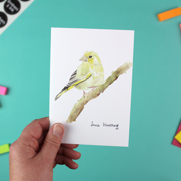 Greenfinch Greetings Card